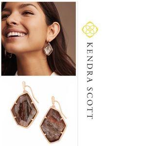 NEW Kendra Scott Dunn rose gold earring sable mica
